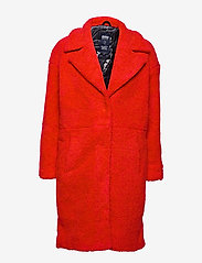 Svea - Marble Jacket - kunstpelz - bright red - 0