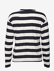 Svea - Lynn Top - long-sleeved tops - navy/offwhite - 1