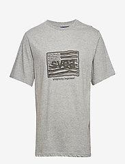 Svea - Flag T-shirt - t-shirts imprimés - grey melange - 0