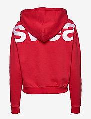 Svea - Malaga Zip Hood - bluzy z kapturem - red - 1