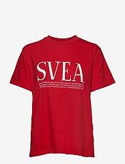 Svea - Oxford Tee - t-shirts - bright red - 0