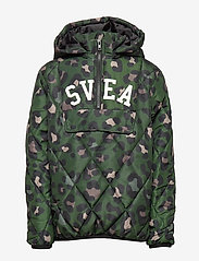 Svea - K. Quilted Anorak Hood Jacket - puffer & padded - green leo - 1