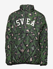 Svea - K. Quilted Anorak Hood Jacket - puffer & padded - green leo - 2