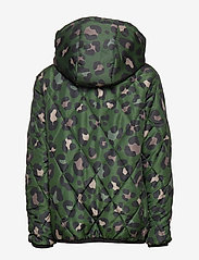 Svea - K. Quilted Anorak Hood Jacket - puffer & padded - green leo - 3