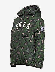 Svea - K. Quilted Anorak Hood Jacket - puffer & padded - green leo - 4