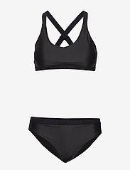 Svea - W. Logo Cross Strap Bikini - bikini set - black - 0