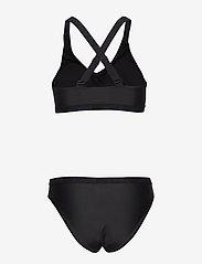 Svea - W. Logo Cross Strap Bikini - bikini set - black - 1