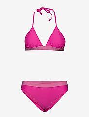 Svea - W. Knot Bikini - bikini set - bright pink - 0