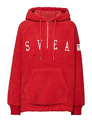 Ophelia Pile Hood - BRIGHT RED