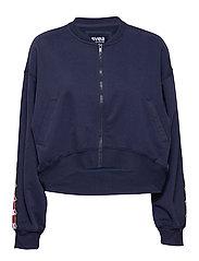 Violet Zip Sweat - BLUE