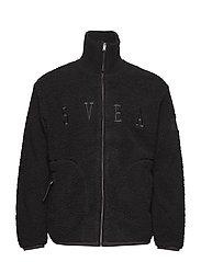 Maison Pile Zip Sweater - GREY MELANGE