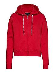 Malaga Zip Hood - BRIGHT RED