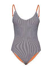Tosca Swimsuit - NAVY/WHITE