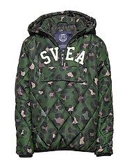 K. Quilted Anorak Hood Jacket - GREEN LEO