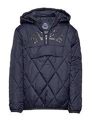 K. Quilted Anorak Hood Jacket - NAVY