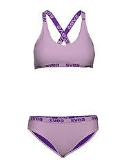 W. Logo Cross Strap Bikini - SOFT LILAC