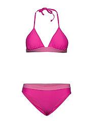 W. Knot Bikini - BRIGHT PINK