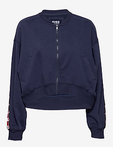 Violet Zip Sweat - bomber jackets - blue