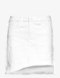 Biarritz Denim Skirt - WHITE