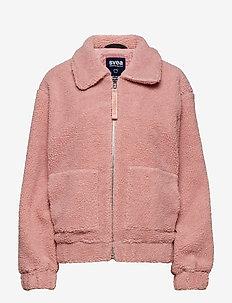 Rome Pile Jacket - sztuczne futro - dusty pink
