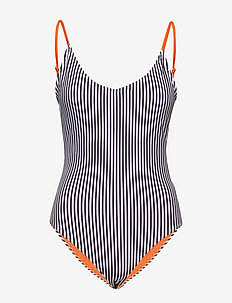 Tosca Swimsuit - NAVY/WHITE