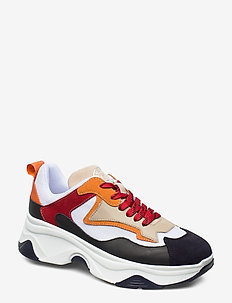 Robyn - chunky sneakers - navy/orange