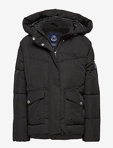 Short Padded JR Jacket - BLACK