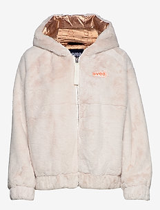 FAUX FUR HOOD JACKET - faux fur - offwhite