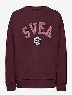 Svea Logo Jr Crew - sweatshirts - winered