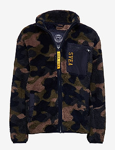 Pile Zip JR Jacket - CAMO PRINT