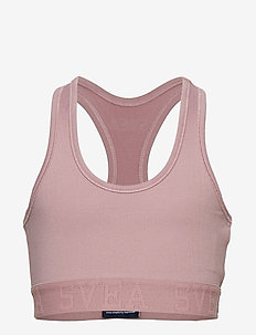 2 STRIPE JR BRA - SOFT PINK