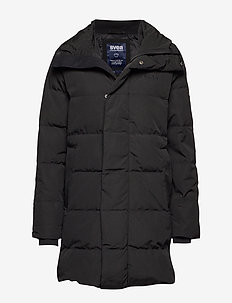 Slim Fit Padded Jacket - BLACK