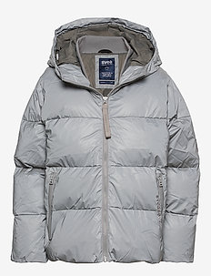 SHORT PADDED HOOD JACKET - SILVER