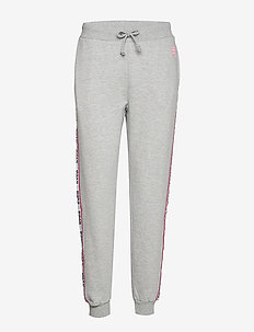 SVEA WOVEN LOGO TAPE SWEAT PANTS - GREY MELANGE