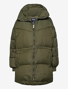 Generous Hip Length Jacket - down- & padded jackets - dark army