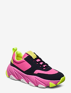 Fire Sneaker - chunky sneakers - bright pink