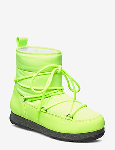 Snowflake Low - platta ankelboots - neon yellow