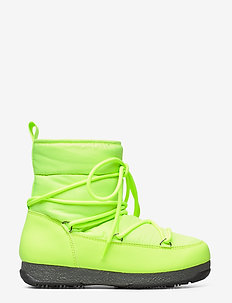 Snowflake Low - flat ankle boots - neon yellow