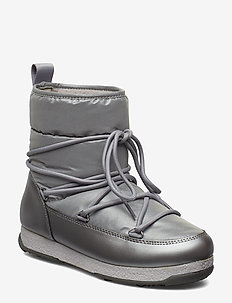 Snowflake Low - flat ankle boots - silver