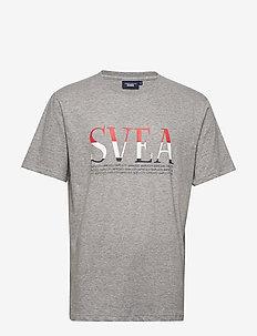Svea Unisex Oversized Logo Tee - GREY MELANGE