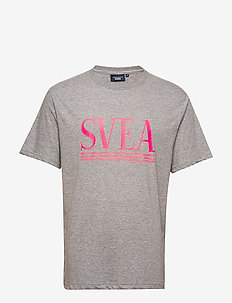 Svea Unisex Oversized Logo Tee - GREY/NEON