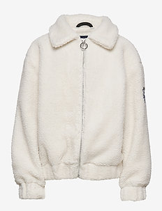 K. Stylish Woody Jacket - faux fur - ivory