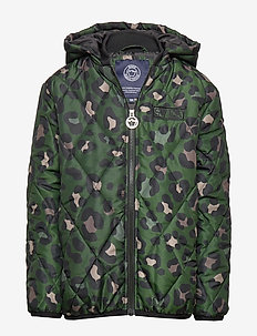 K. Quilted Hood Jacket - GREEN LEO
