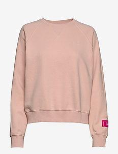 W. Svea Embo Crew Neck - sweatshirts - pearl blush