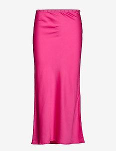 W. Bias Skirt - midi rokken - bright pink
