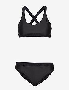 W. Logo Cross Strap Bikini - bikini-setje - black