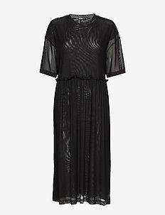 W. Mesh Dress - midiklänningar - black