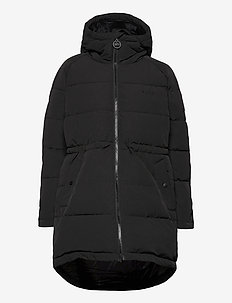 W. Hourglass Puffer Jacket - padded coats - black