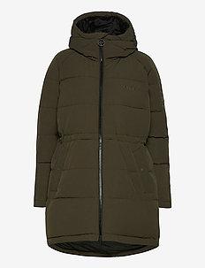 W. Hourglass Puffer Jacket - padded coats - dark army