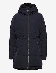 W. Hourglass Puffer Jacket - padded coats - navy